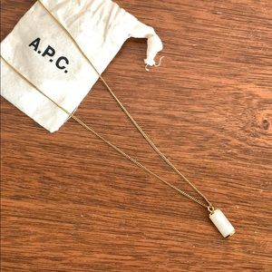 A.P.C. Necklace with ivory pendant